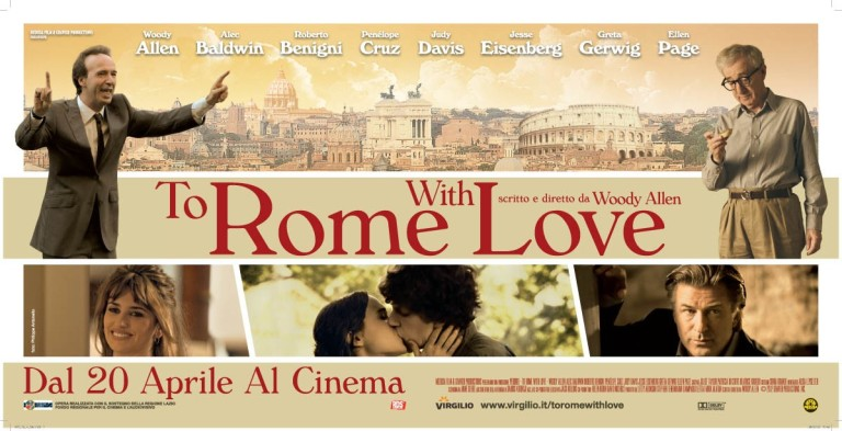 To Rome With Love Italian Poster